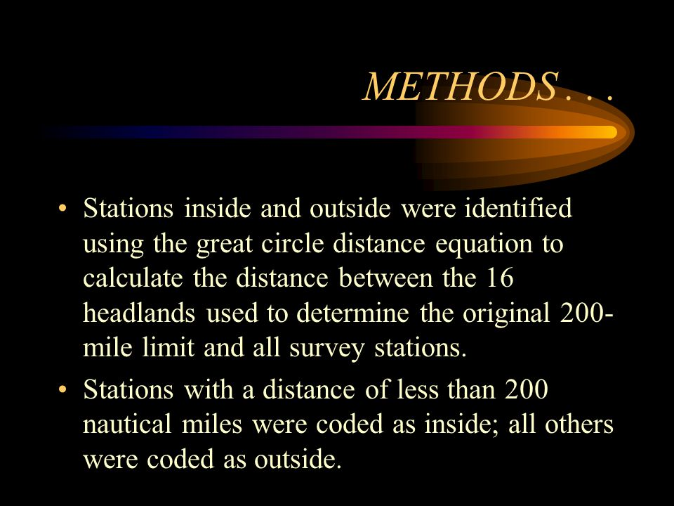 METHODS...