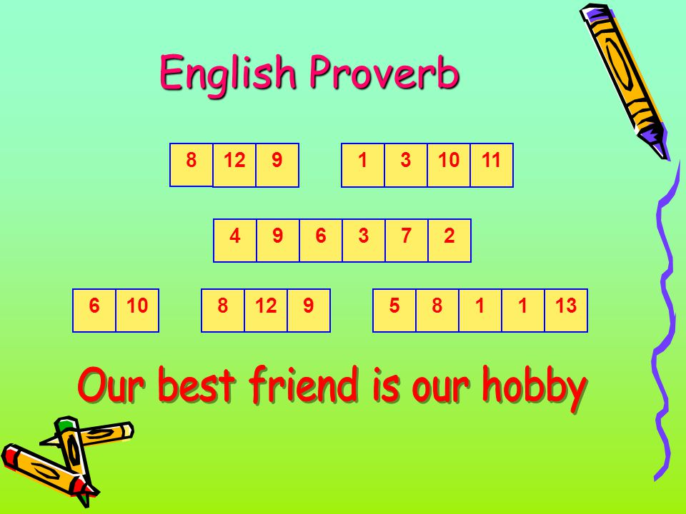 English Proverb 8 129131011 4963726108129581113