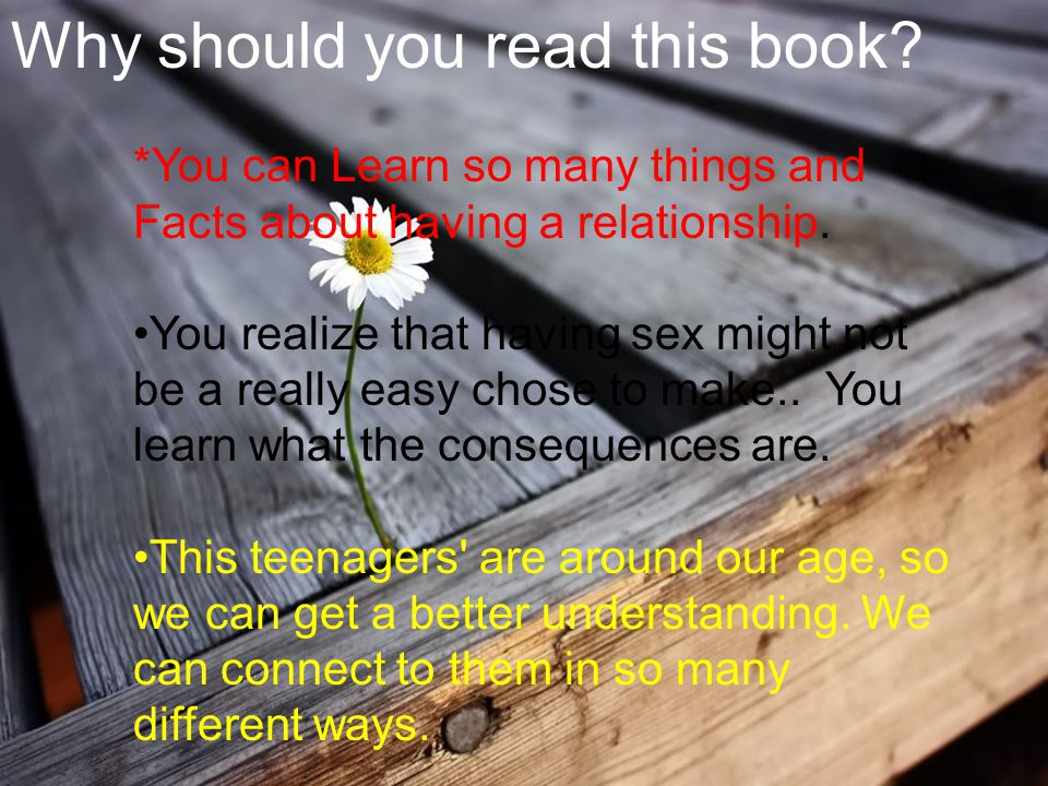 Why should you read this book. *You can Learn so many things and Facts about having a relationship.