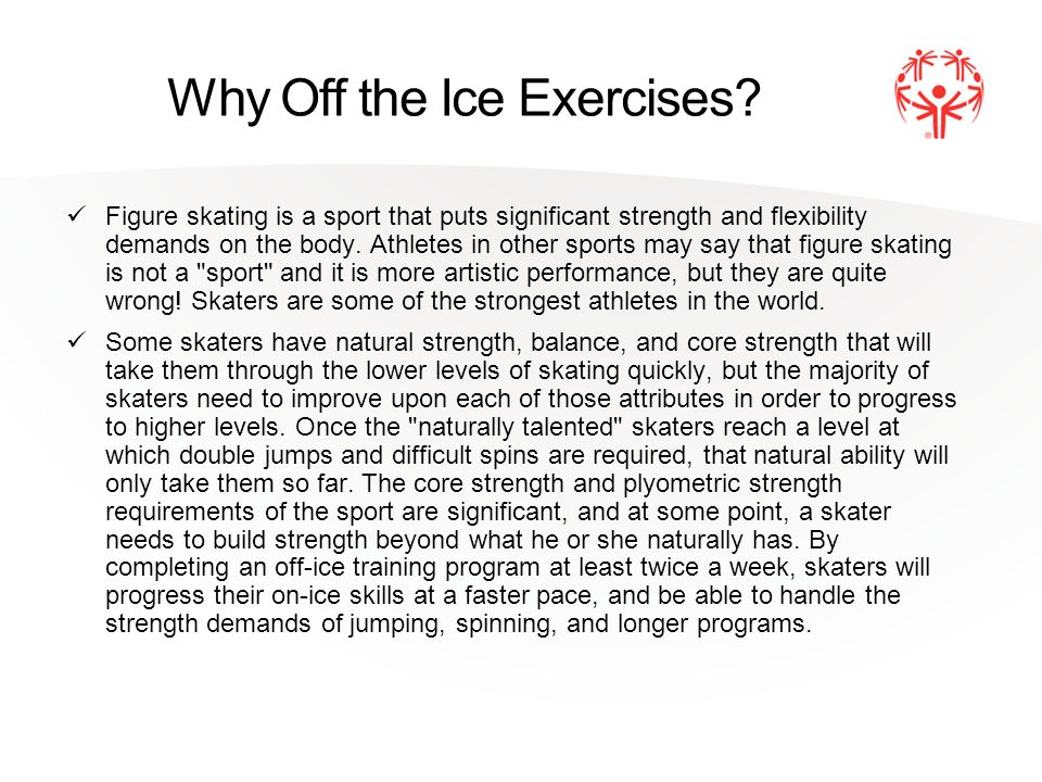 Why Off the Ice Exercises.