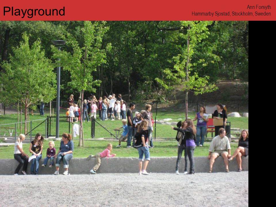 www.annforsyth.net Playground Ann Forsyth Hammarby Sjostad, Stockholm, Sweden