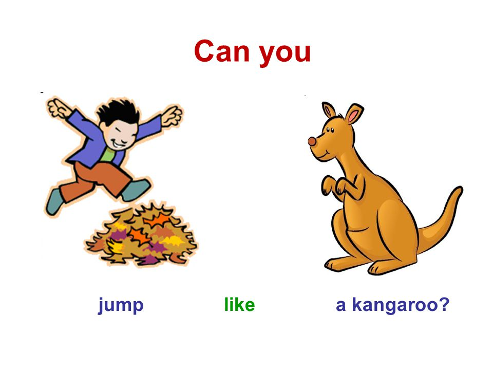 jump like a kangaroo Can you