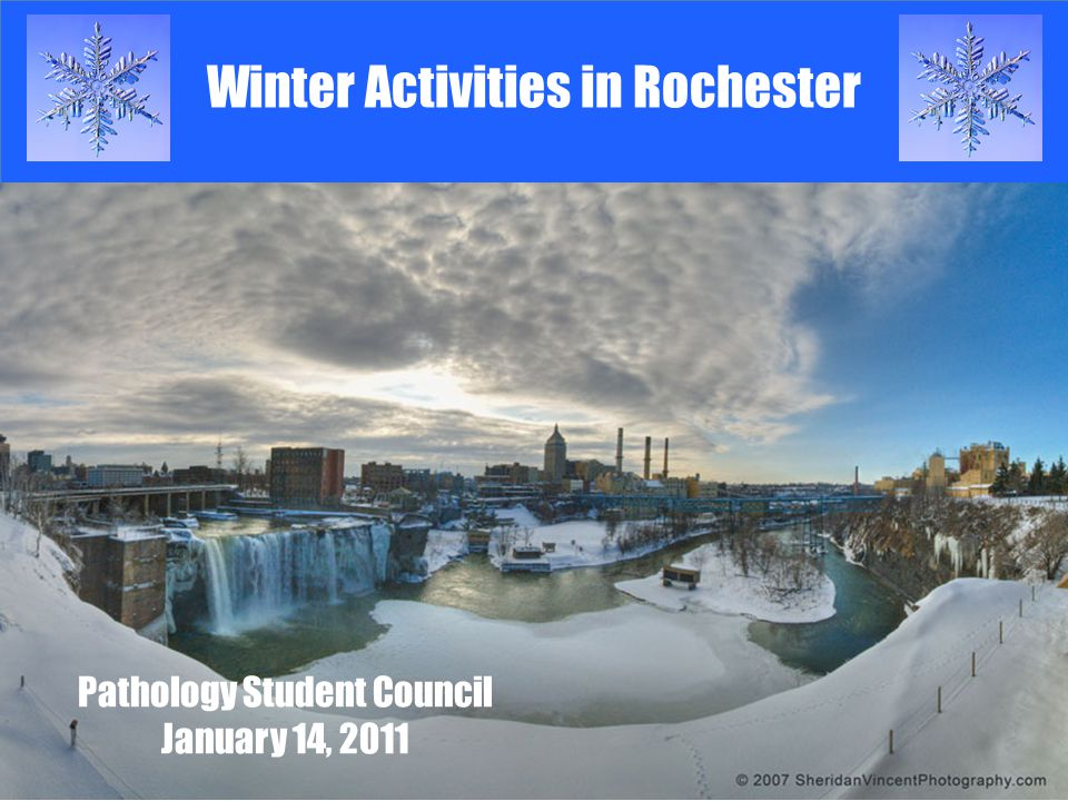 Winter Activities in Rochester Pathology Student Council January 14, 2011