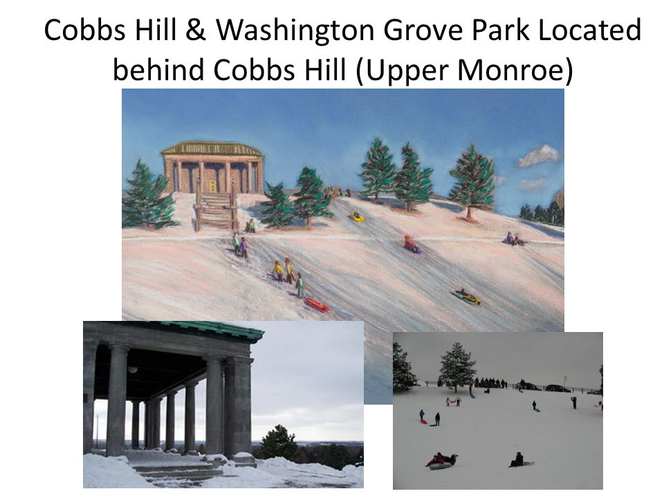 Cobbs Hill & Washington Grove Park Located behind Cobbs Hill (Upper Monroe)