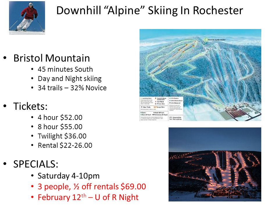 Swain Ski Resort 1 Hour south 30 Trails Ticket Prices 4 hour $41.00 8 hour $43.00 Night $31.00 Rentals $26.00 Specials Wednesday – College Day.