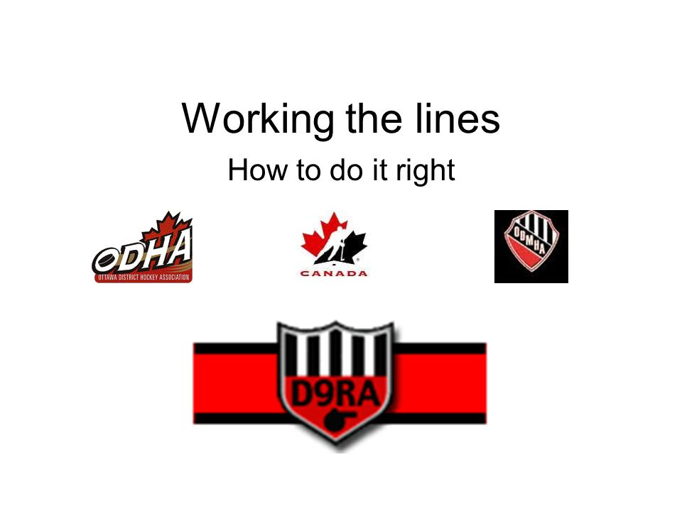Why do we work the line .