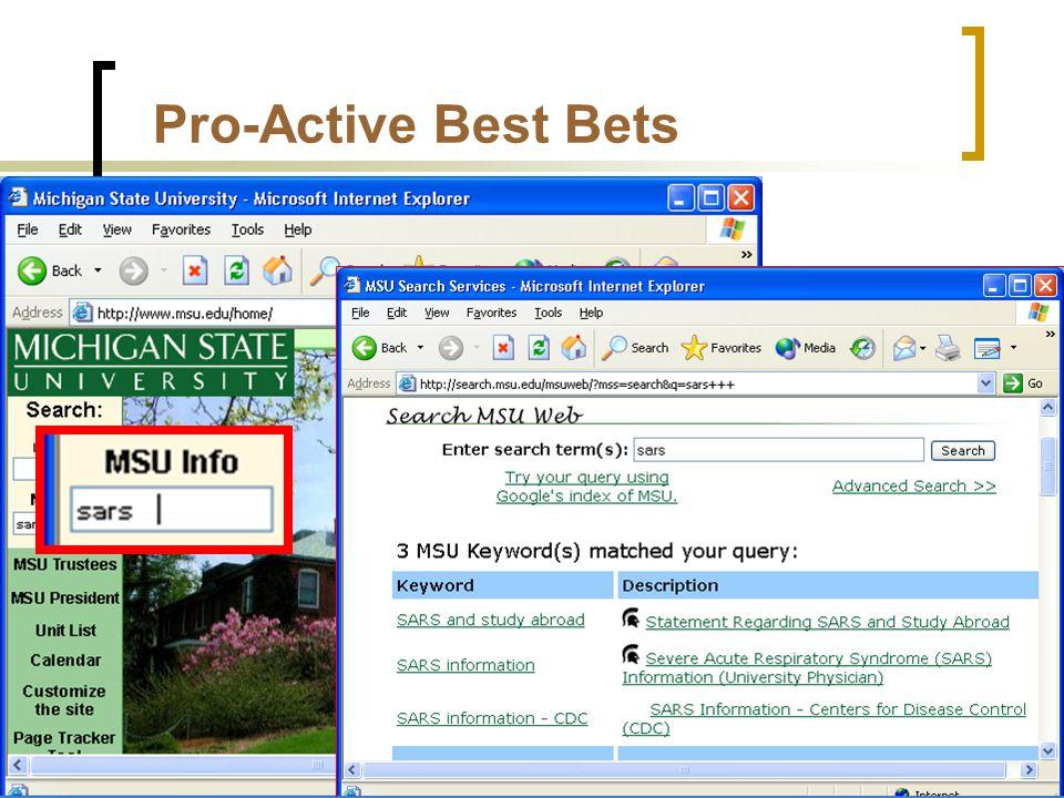 Pro-Active Best Bets