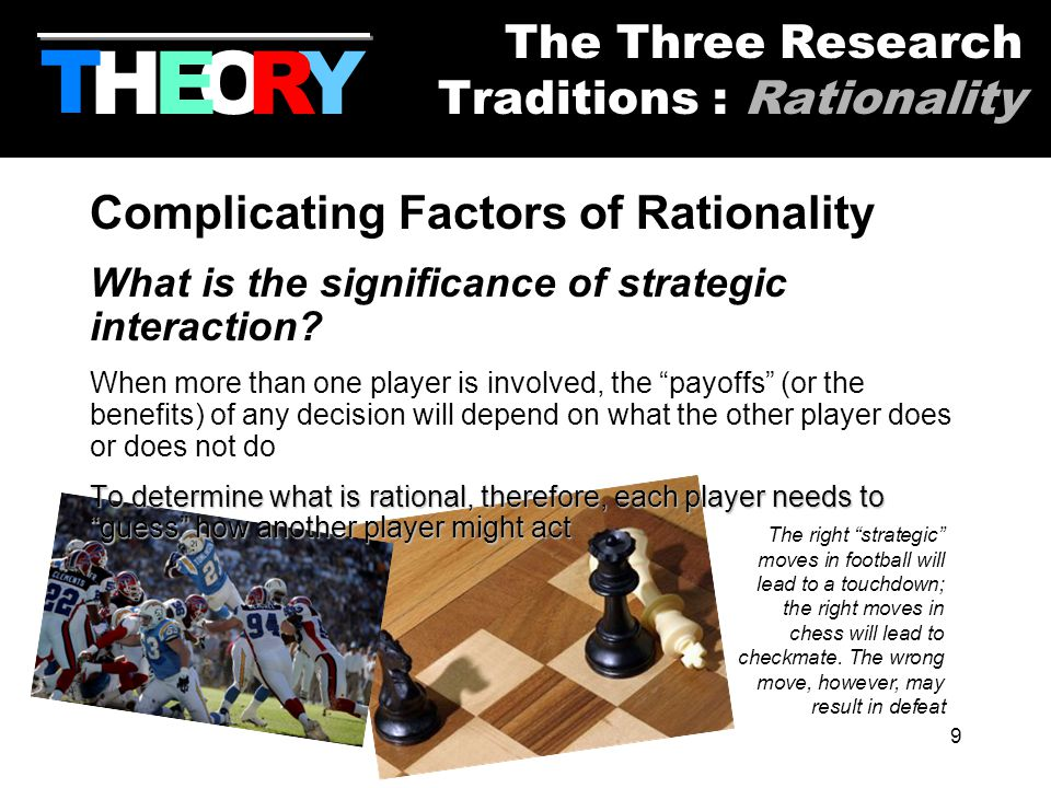 9 Complicating Factors of Rationality What is the significance of strategic interaction.