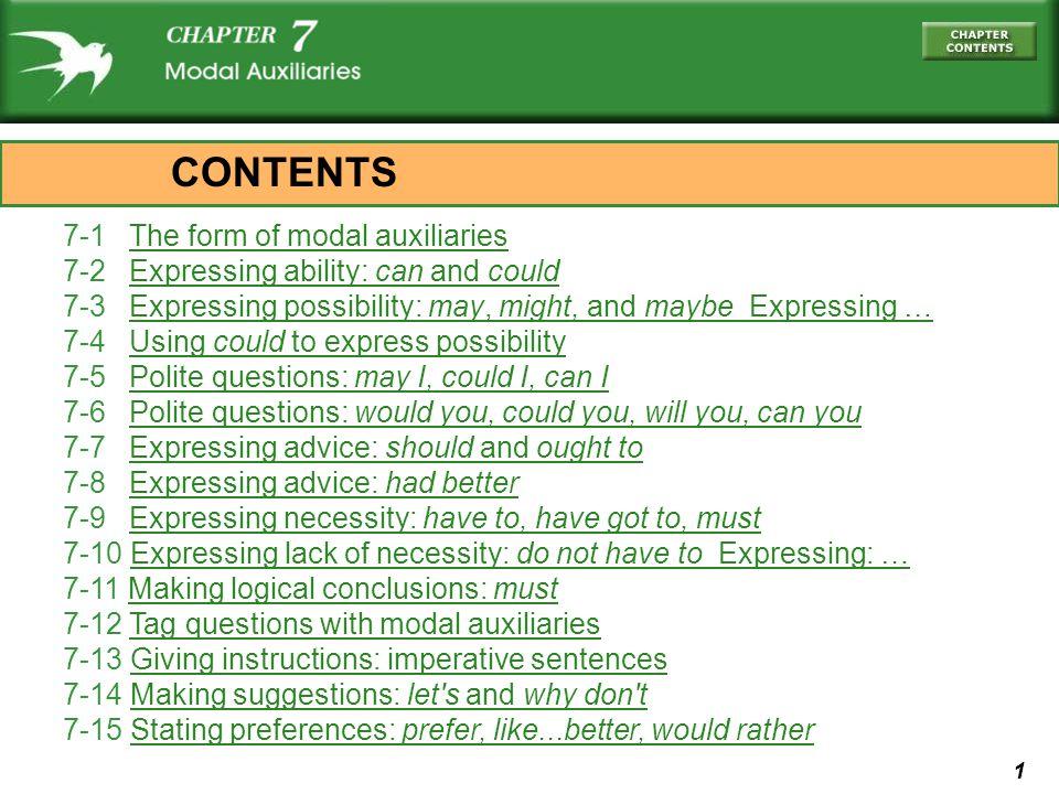 112 (d) Slow down! (e) Please slow down! 7-13 GIVING INSTRUCTIONS: IMPERATIVE SENTENCES