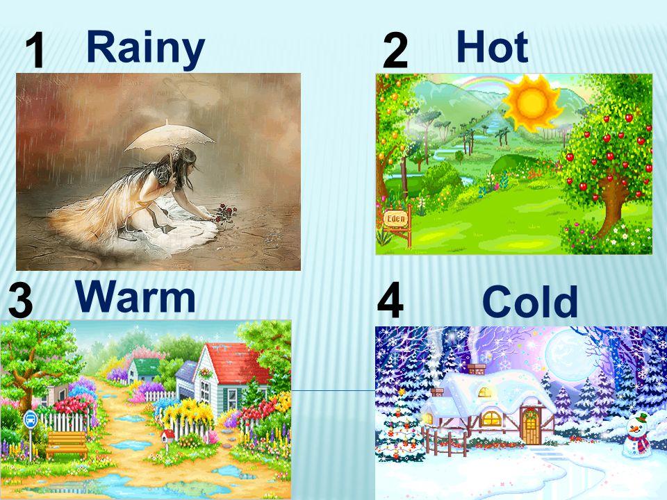 Cold 12 34 Warm RainyHot