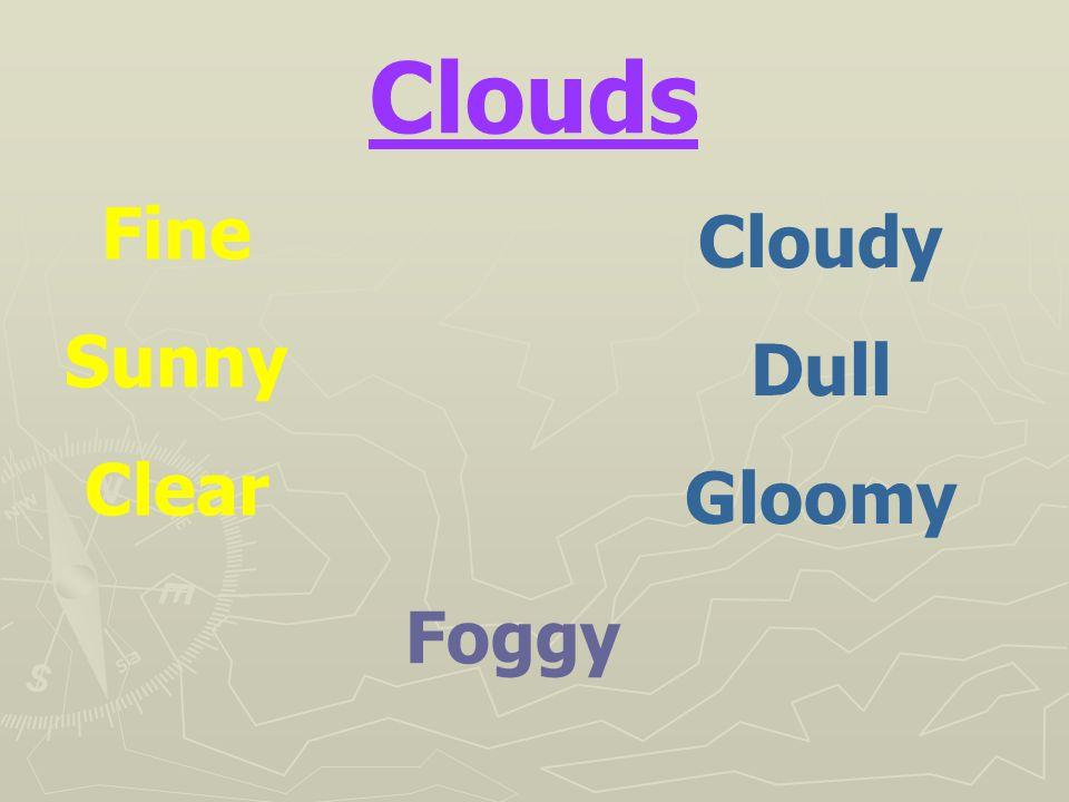 Clouds Fine Sunny Clear Cloudy Dull Gloomy Foggy