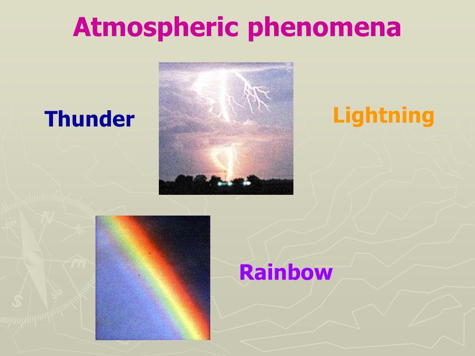 Atmospheric phenomena Thunder Rainbow Lightning
