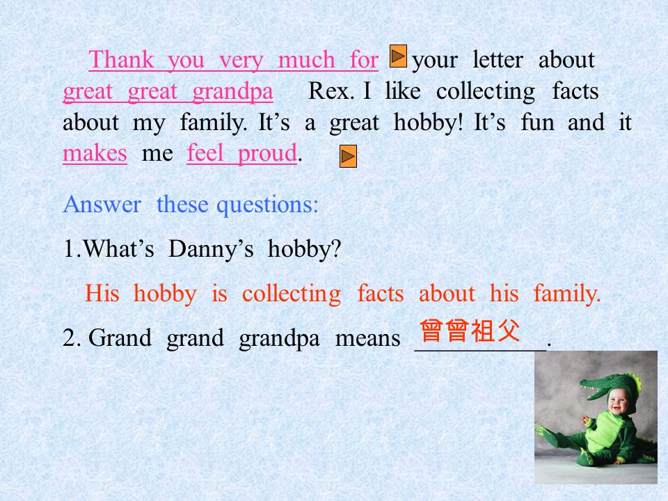 Thank you very much for sth./doing sth.因为 … 而非常感谢你 谢谢你的帮助。 Thank you ______ _______ _______.