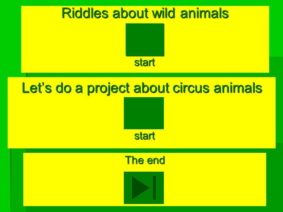 Circus animals Circus animals English -4 Lesson 2