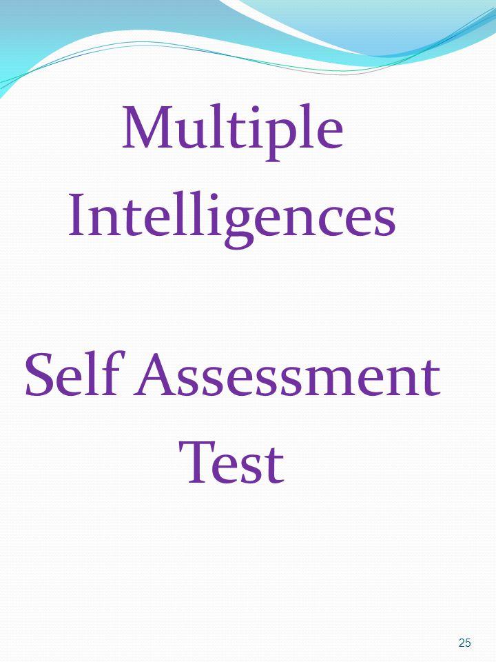 25 Multiple Intelligences Self Assessment Test
