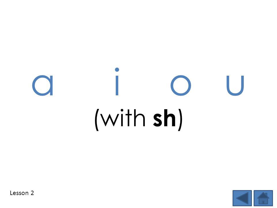 Lesson 2 a i o u (with sh )