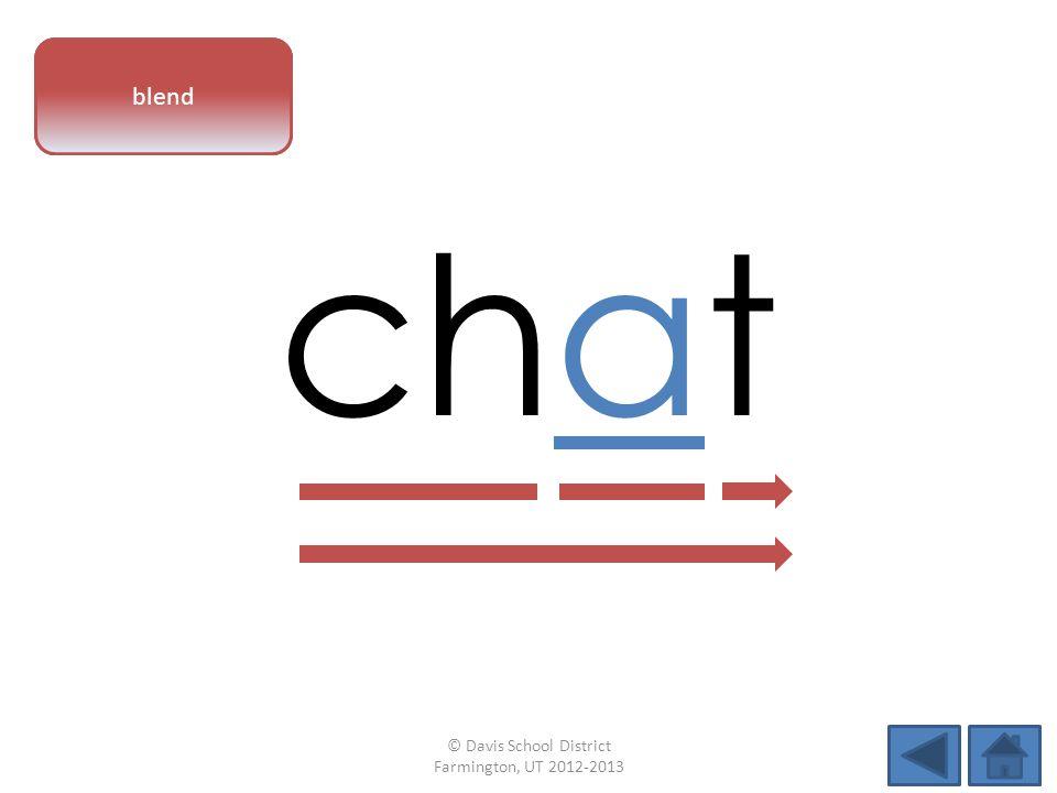 vowel pattern chat blend © Davis School District Farmington, UT 2012-2013