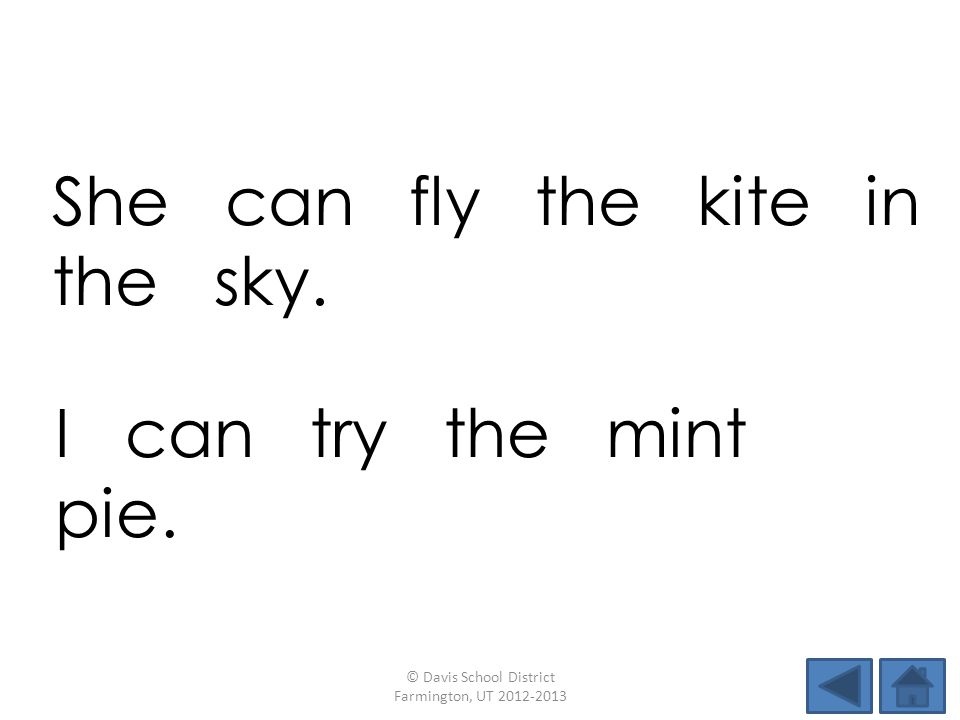 She can fly the kite in the sky.