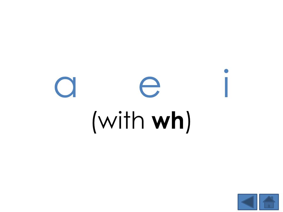 a e i (with wh )
