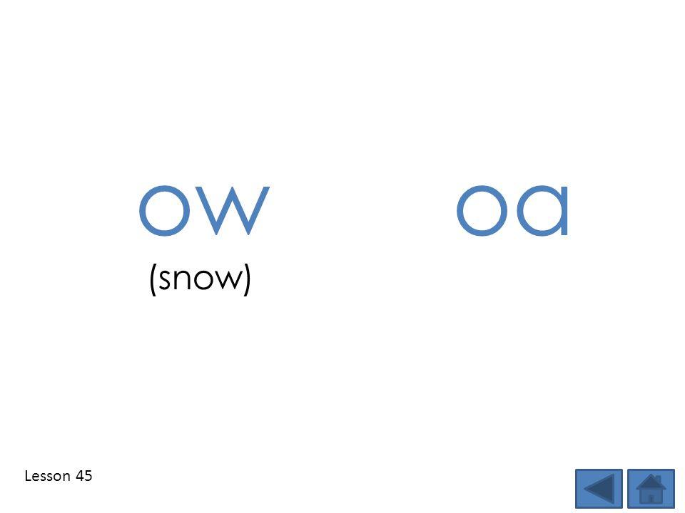 Lesson 45 owoa (snow)