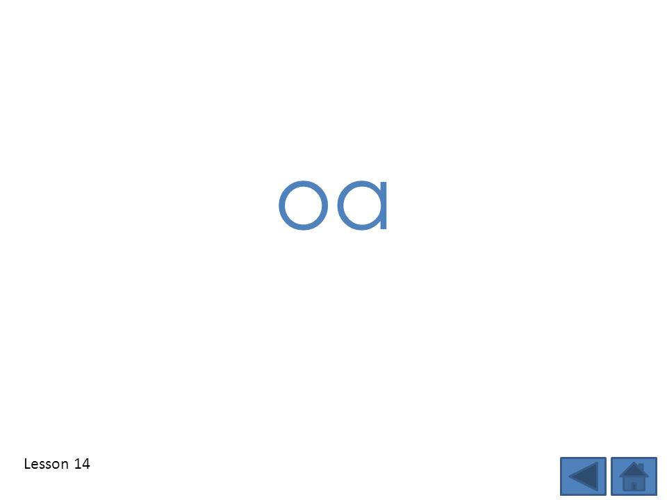 Lesson 14 oa