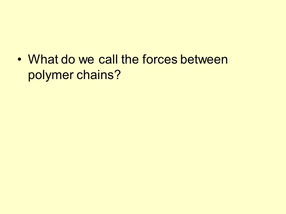What do we call the forces between polymer chains?