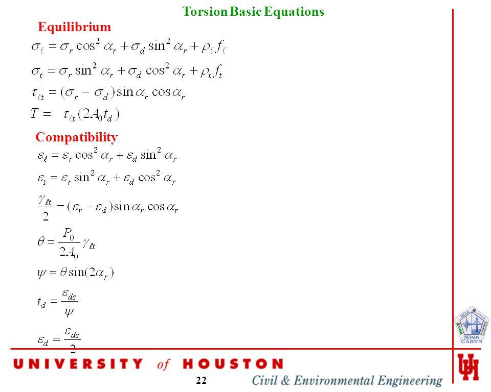 22 Torsion Basic Equations Equilibrium Compatibility