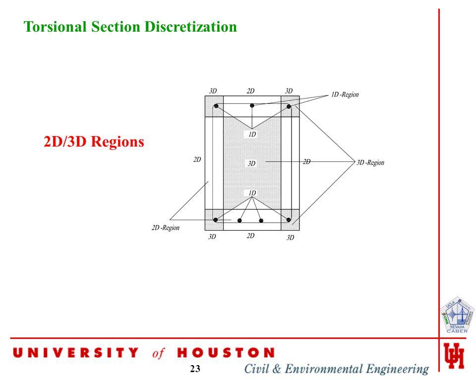 23 Torsional Section Discretization 2D/3D Regions