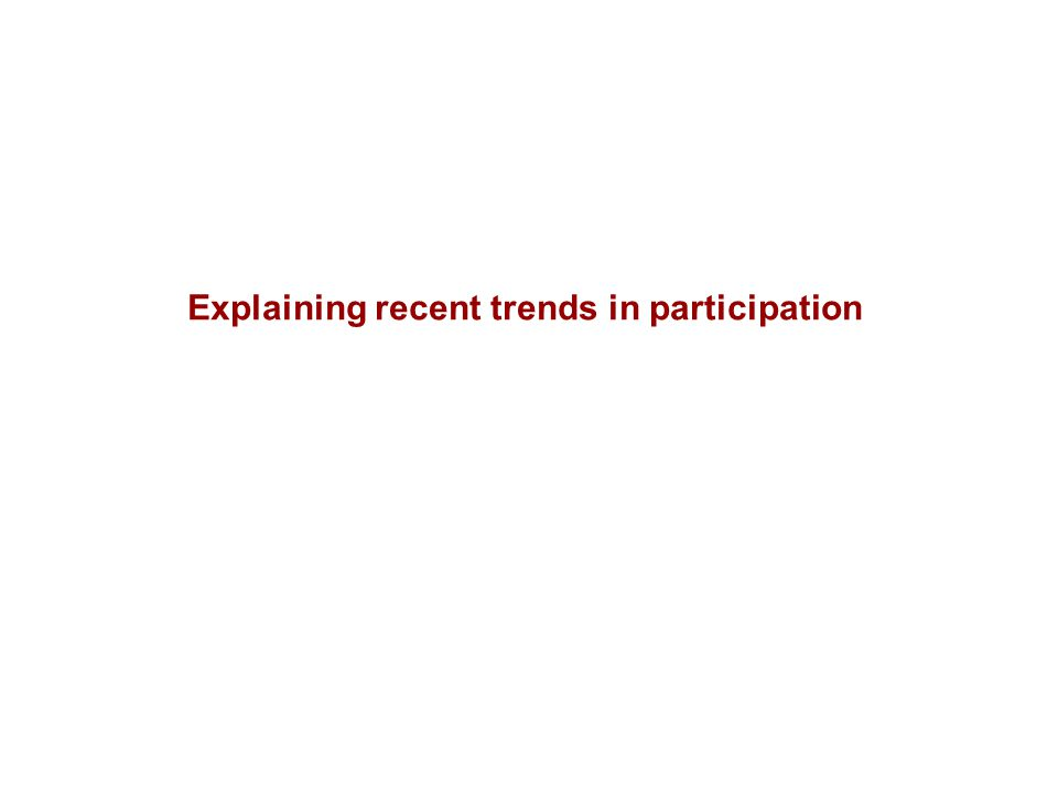 Explaining recent trends in participation