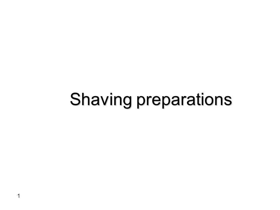 1 Shaving preparations