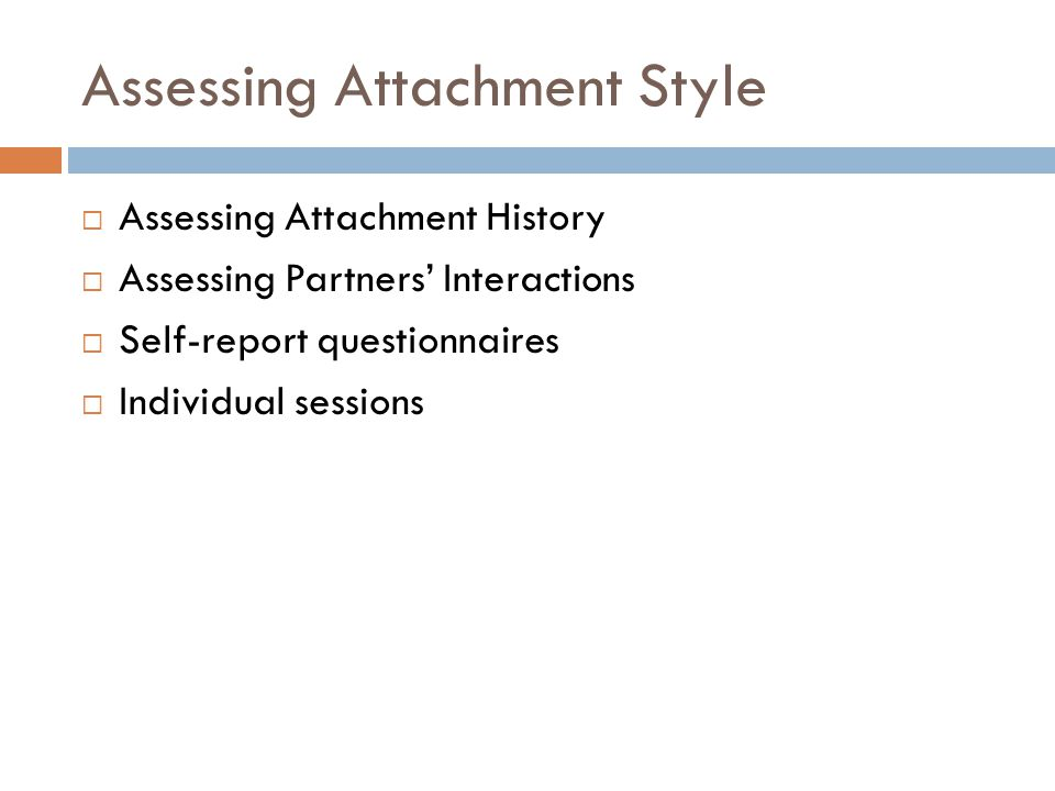 Basic Skills in Assessment Creating a therapeutic alliance – a safe haven in therapy.