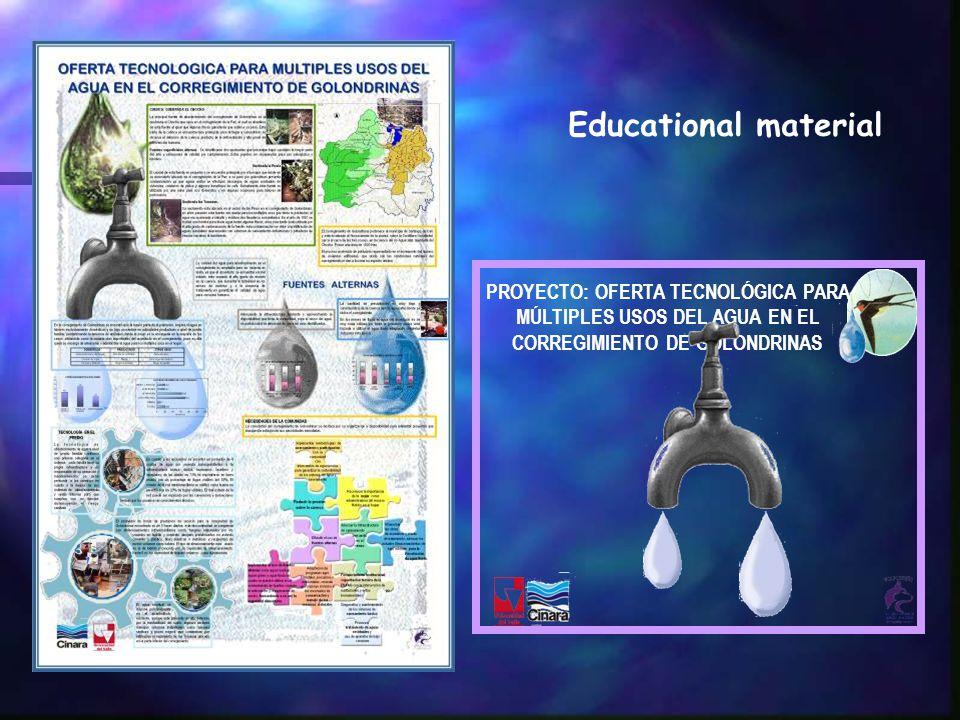PROYECTO: OFERTA TECNOLÓGICA PARA MÚLTIPLES USOS DEL AGUA EN EL CORREGIMIENTO DE GOLONDRINAS Educational material