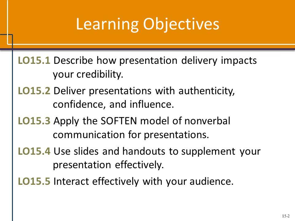 15-3 Principles for Establishing Presence Establish credibility.