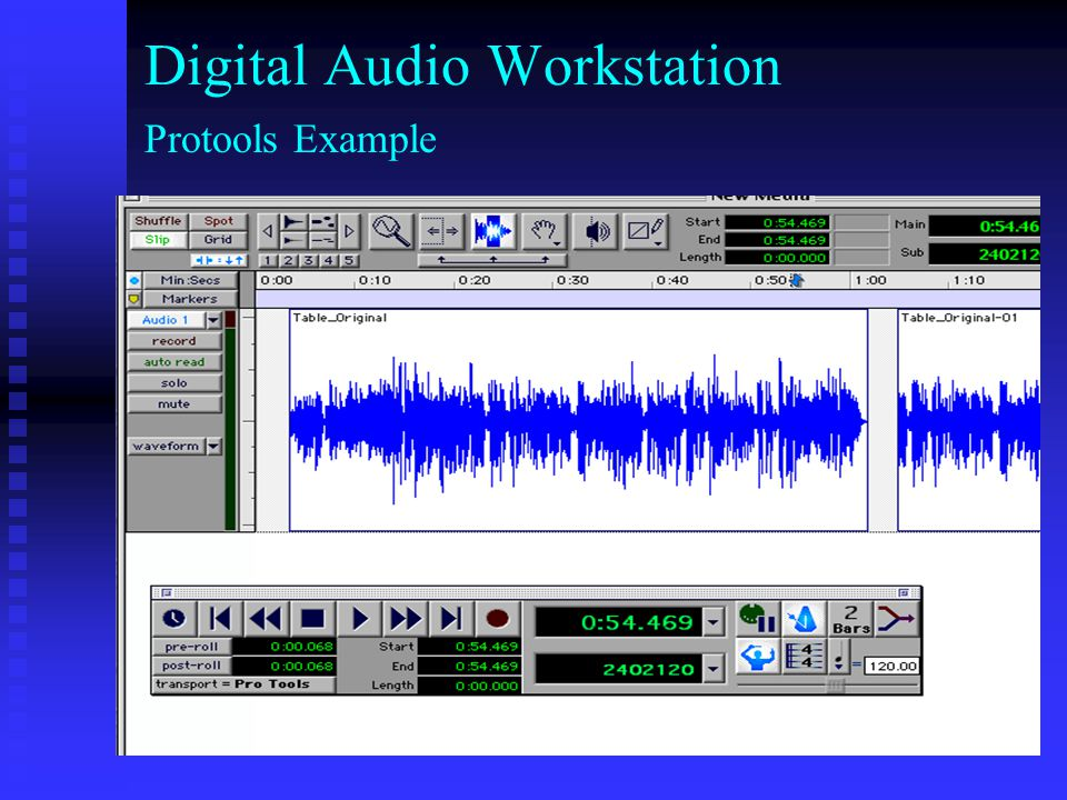 Digital Audio Workstation Protools Example