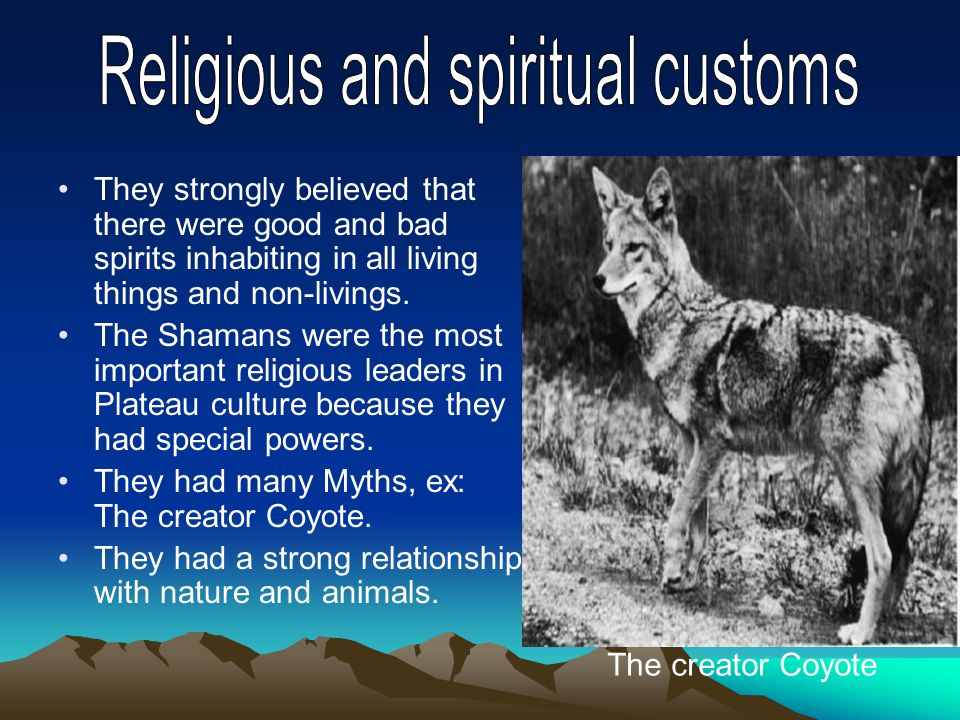 They strongly believed that there were good and bad spirits inhabiting in all living things and non-livings.