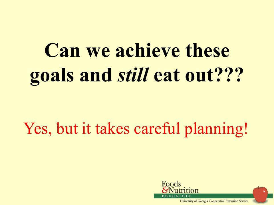 Common Goals Healthy, delicious food Meals that fit our appetite Reasonable price Meals that meet individual needs