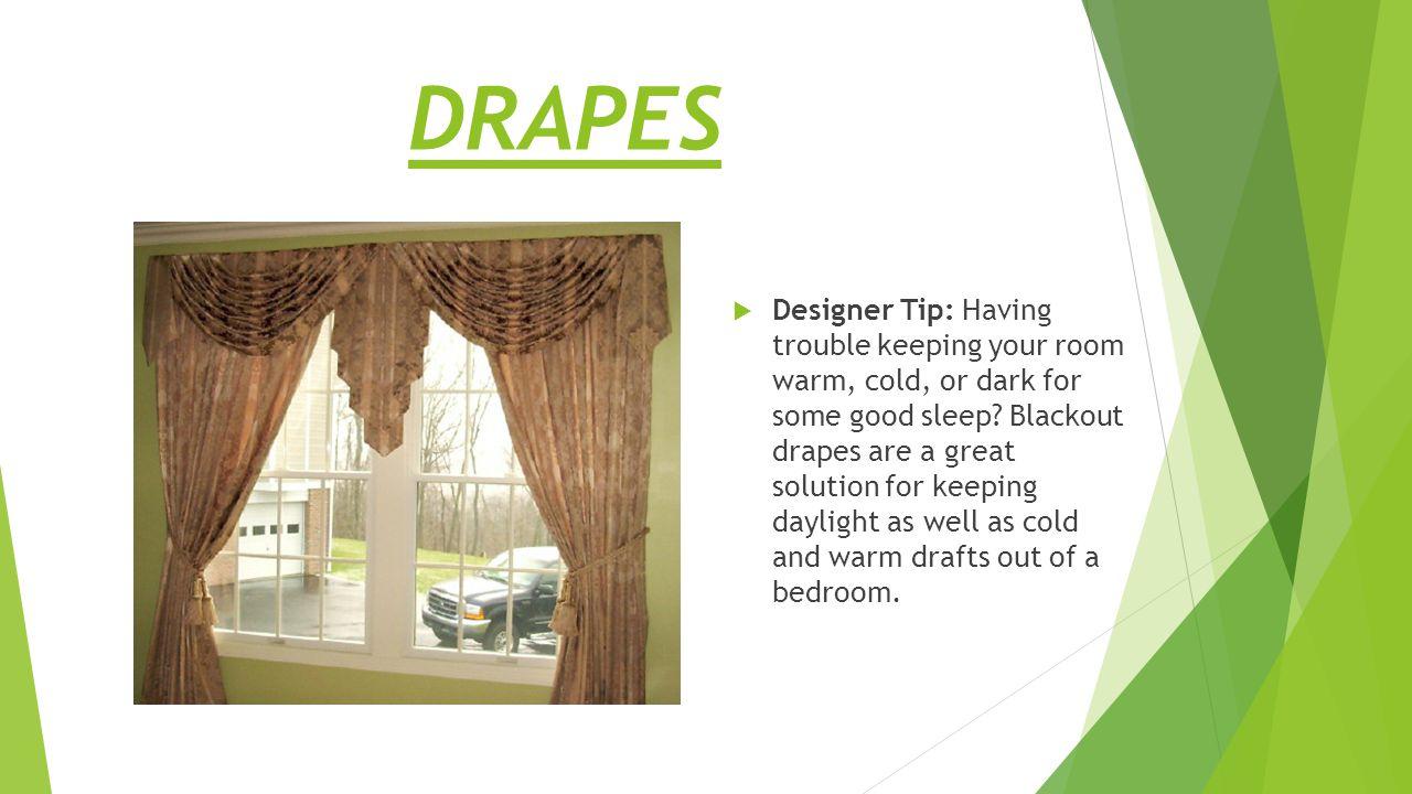 Examples of drape designs