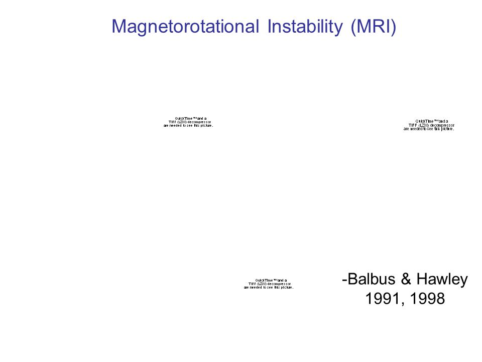Magnetorotational Instability (MRI) -Balbus & Hawley 1991, 1998
