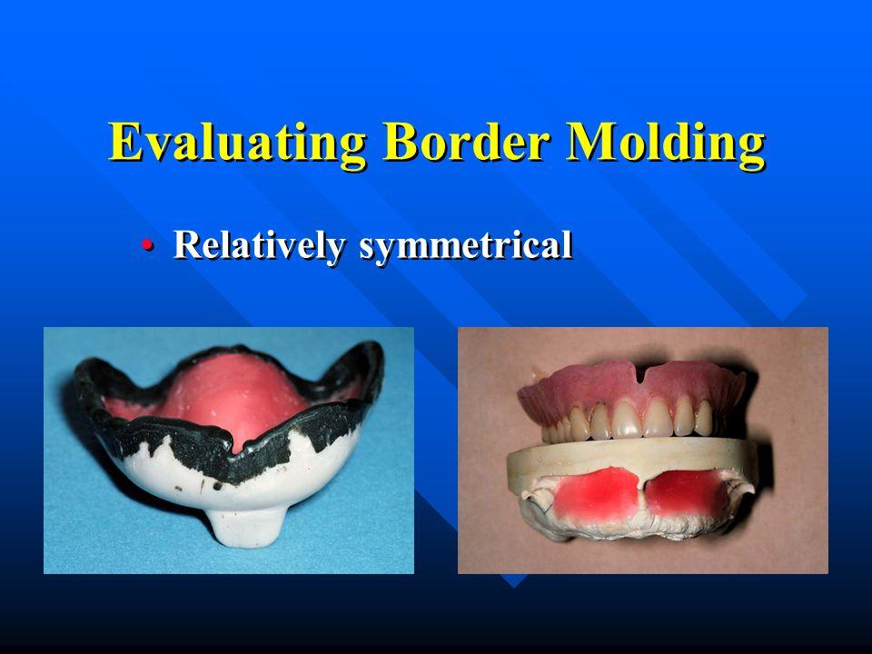 Evaluating Border Molding Relatively symmetrical