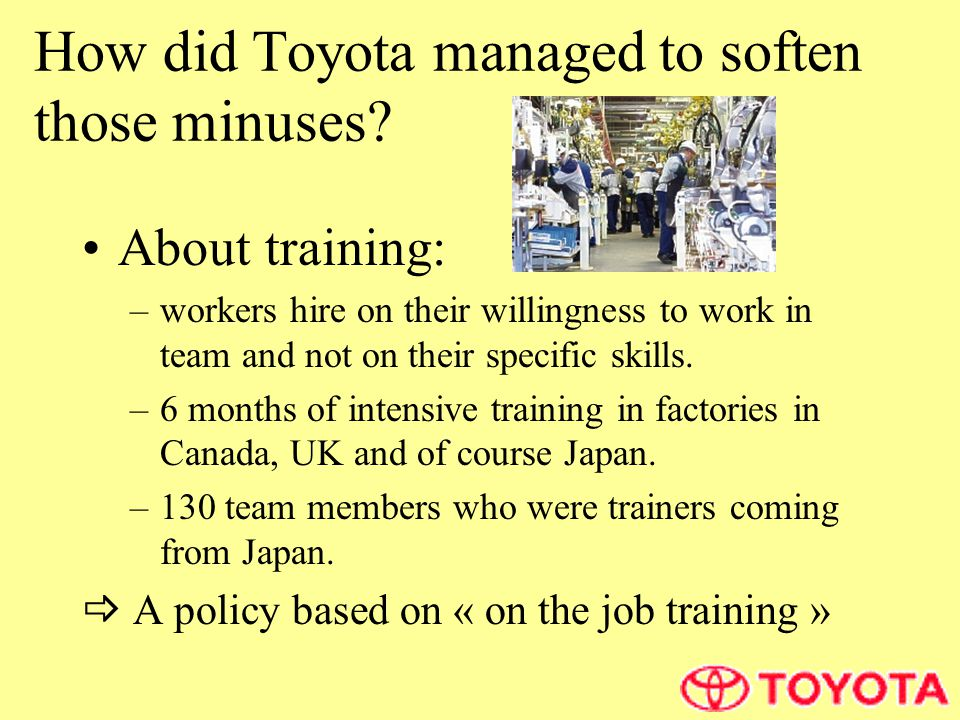 How did Toyota managed to soften those minuses.