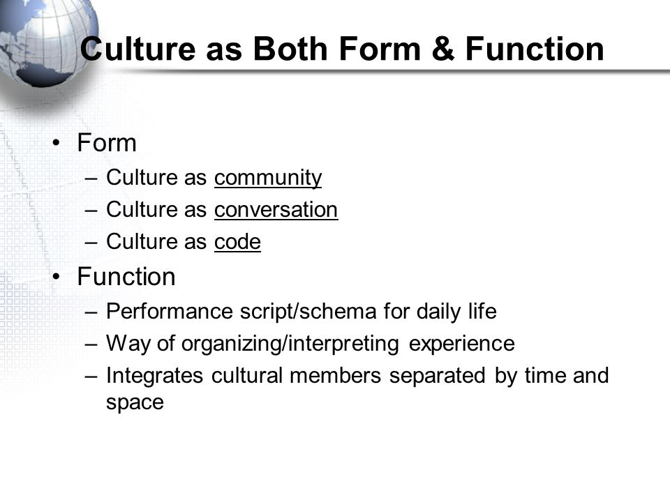 """Culture Baldwin additions to reading (slides 2-6) Culture: """"The traditions, customs, norms, beliefs, values, and thought patterning which are passed d"""
