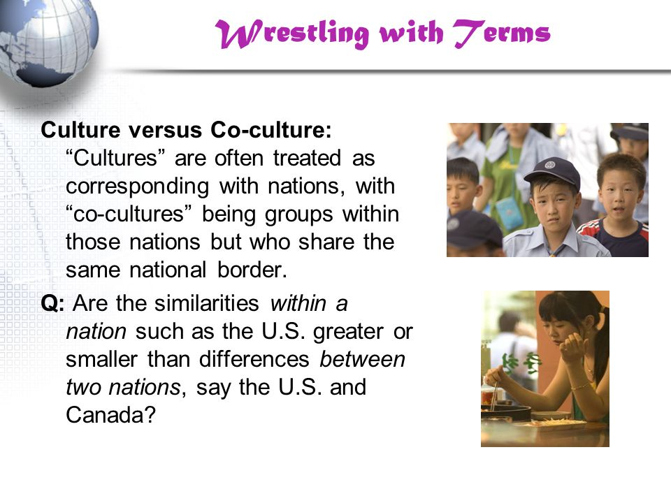 Co-Cultural Theories based on Power Structures Main Point: While groups may create their own identities (CTI), these identities are created within structures of power relations—the creation of a group's identity (e.g., Deaf) can only be understood in terms of the group's relation to dominant culture.