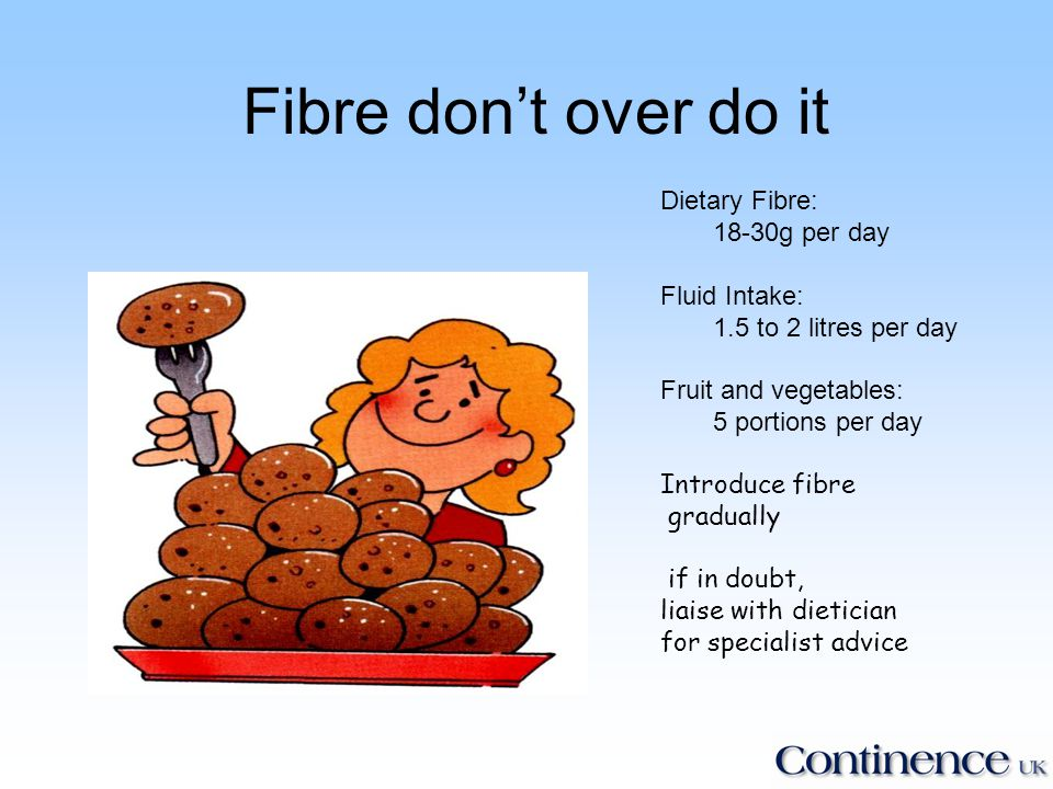 Insoluble & Soluble Fibre Insoluble - bulking (laxative) agents help prevent constipation –Examples: Oats, fruit, vegetables and pulses Soluble – help reduce blood cholesterol levels & can help control blood sugar levels –Examples: Wholegrain cereals and wholemeal bread