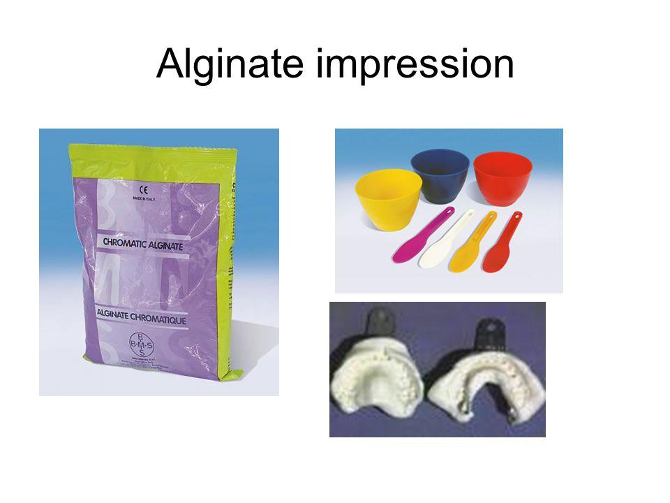 Alginate impression