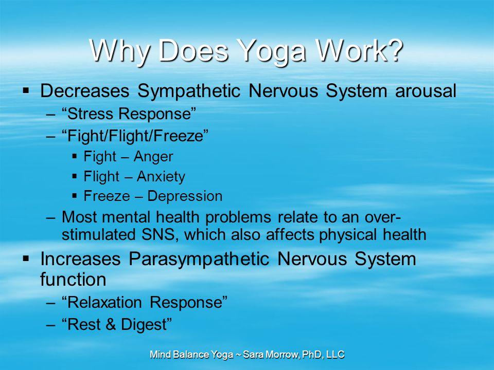Mind Balance Yoga ~ Sara Morrow, PhD, LLC Why Does Yoga Work.