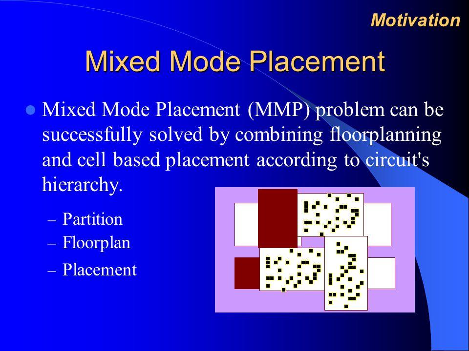 Results on MMP Circuits#cells #macro blocks #nets Block area (average) /cell area(average) block270942100492045 block65996610049872 block85662810049695 block95895910049751 block1051511010049676 Experimental Results