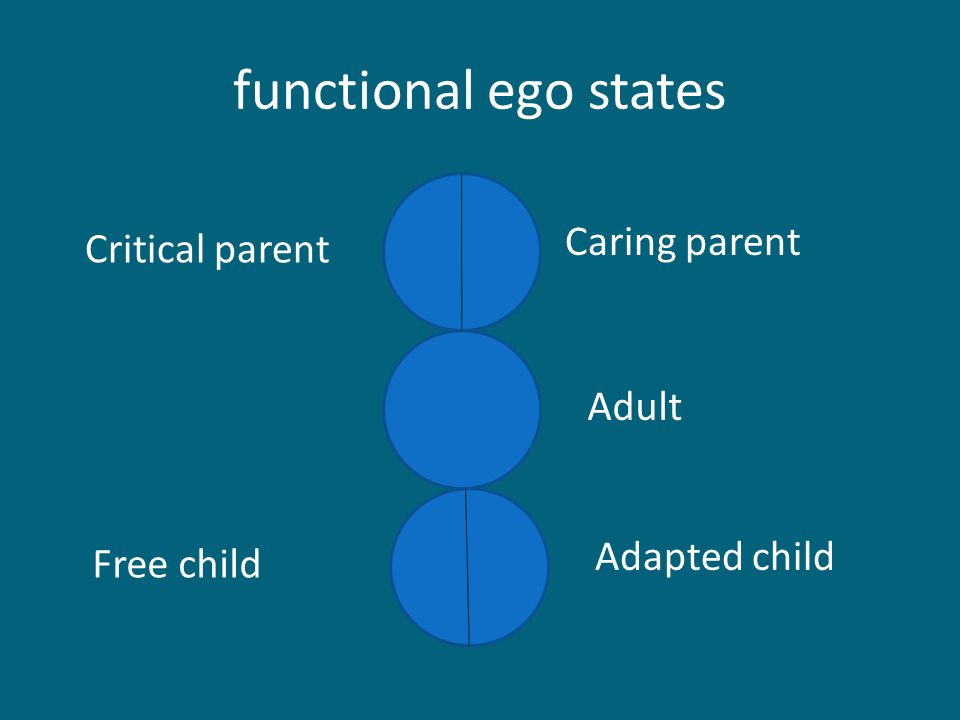 functional ego states Caring parent Critical parent Free child Adapted child Adult