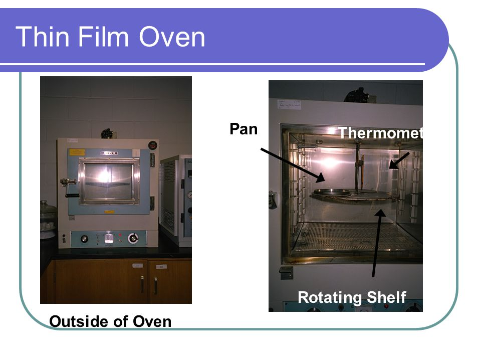 Volatility Tests/ Thin Film Oven Test Excessive high temp. during plant mixing will harden the mixture (i.e. age it) and reduce pavement life. In meas