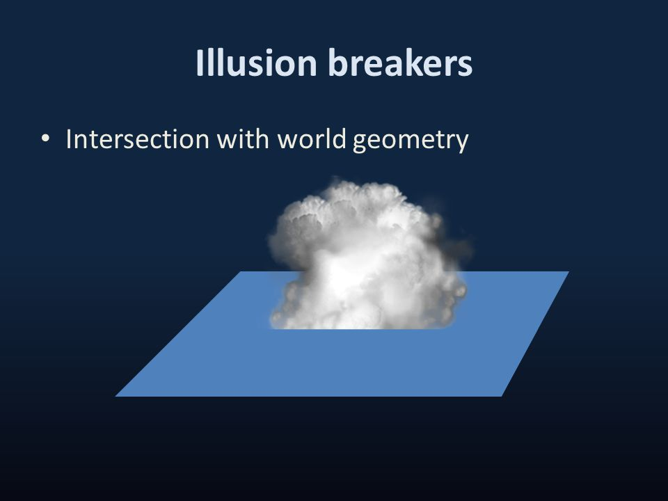 Illusion breakers Intersection with world geometry