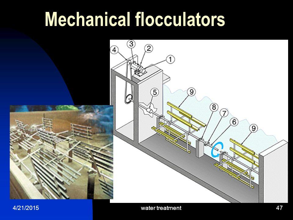 4/21/2015water treatment47 Mechanical flocculators